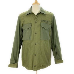Rag And Bone Flight Shirt Jacket L Olive Green L/S